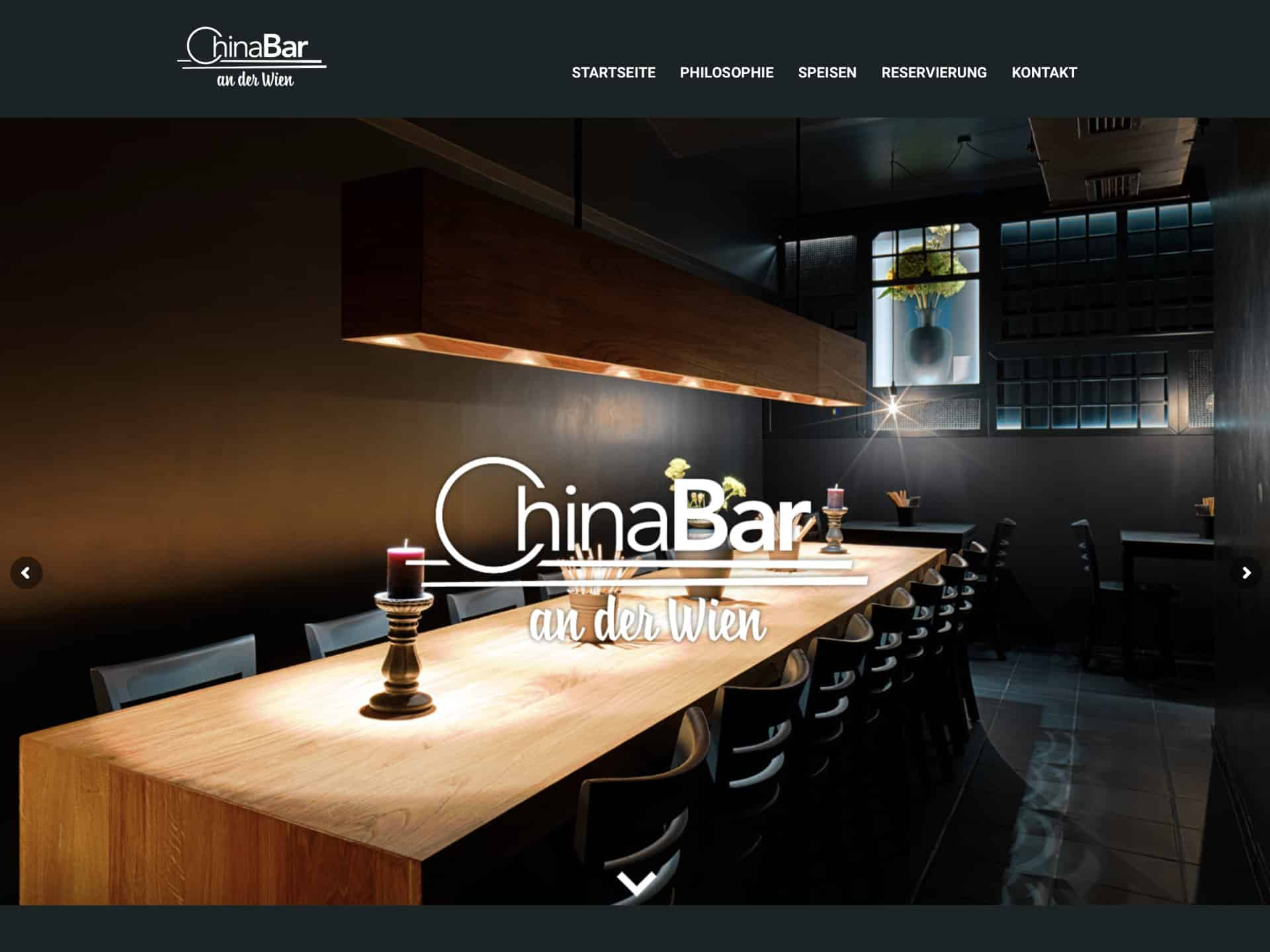 Chinabar an der Wien Website