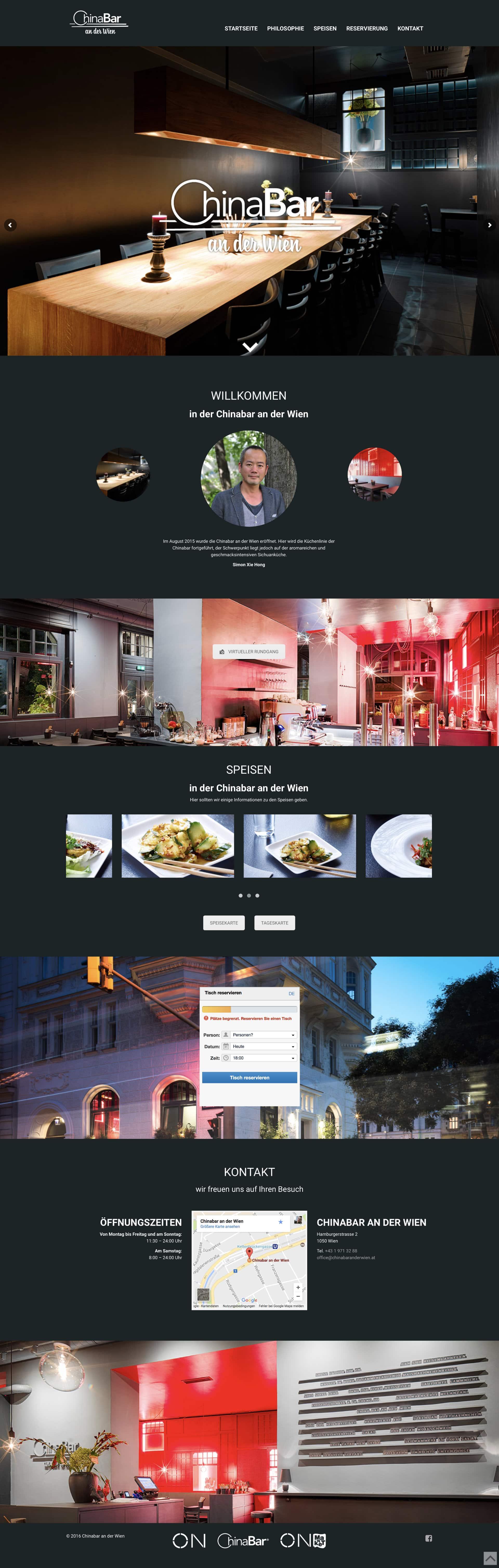 Chinabar an der Wien Website