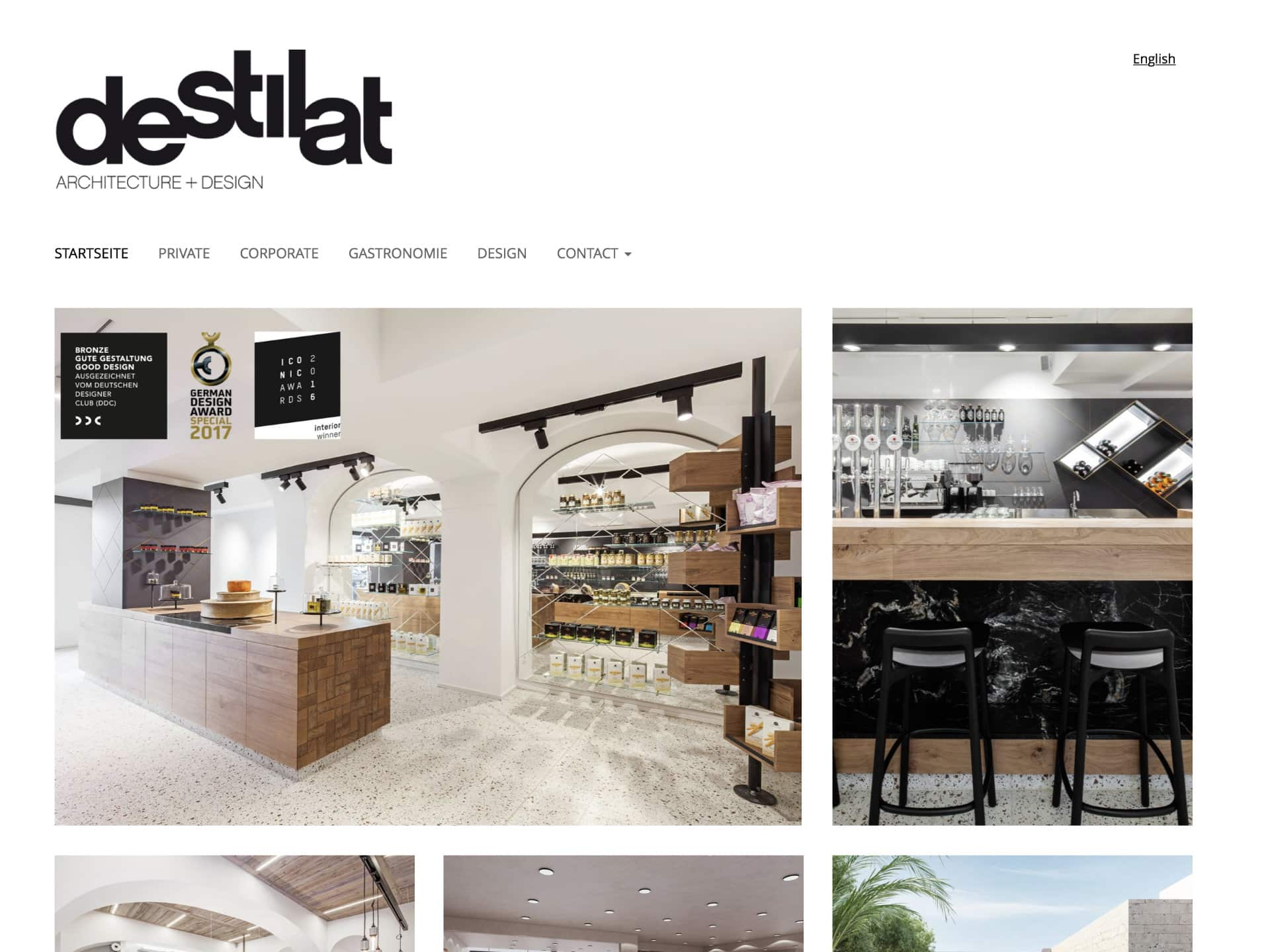 destilat Architektur + Design Website
