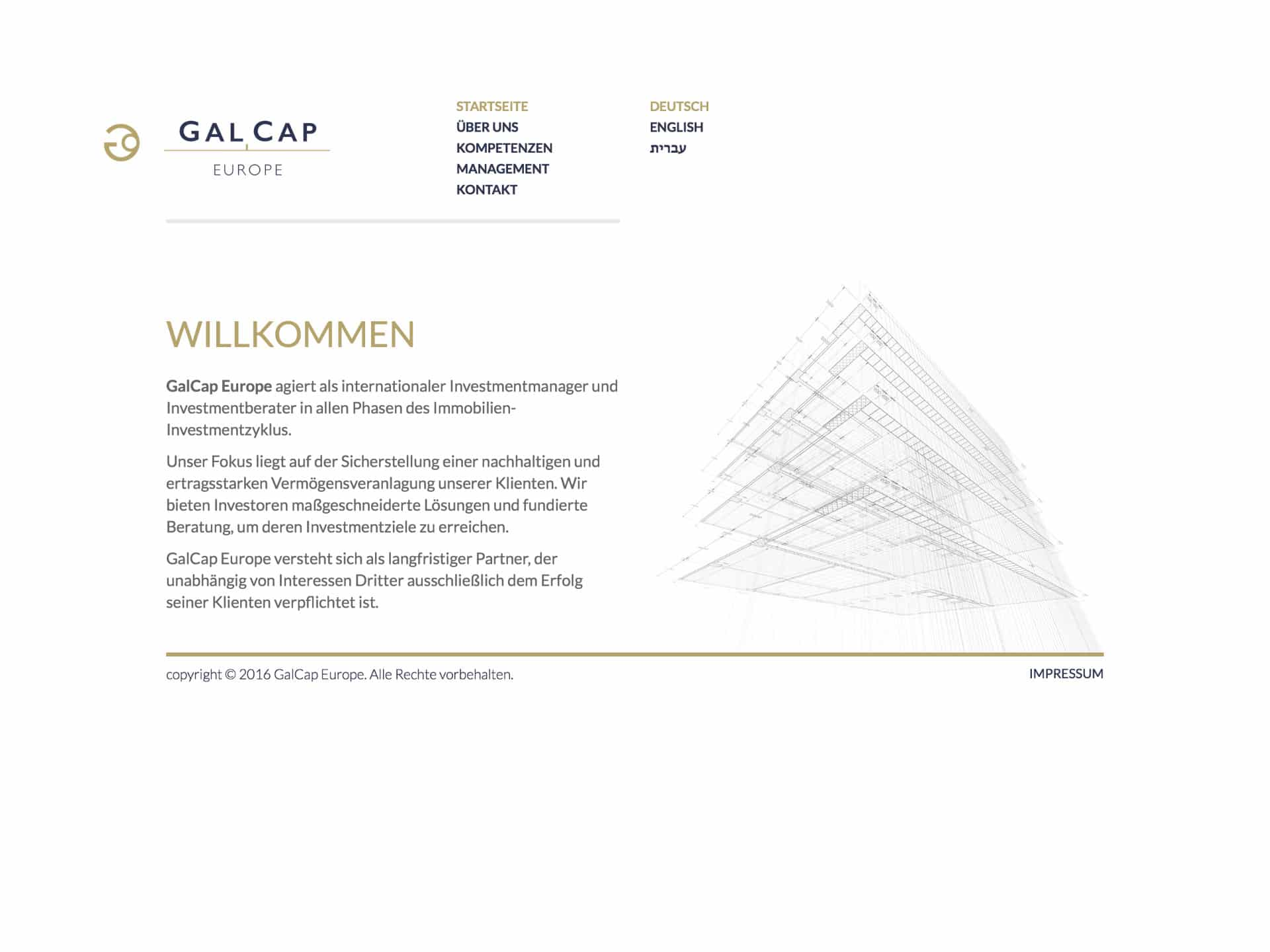 GalCap Europe Website
