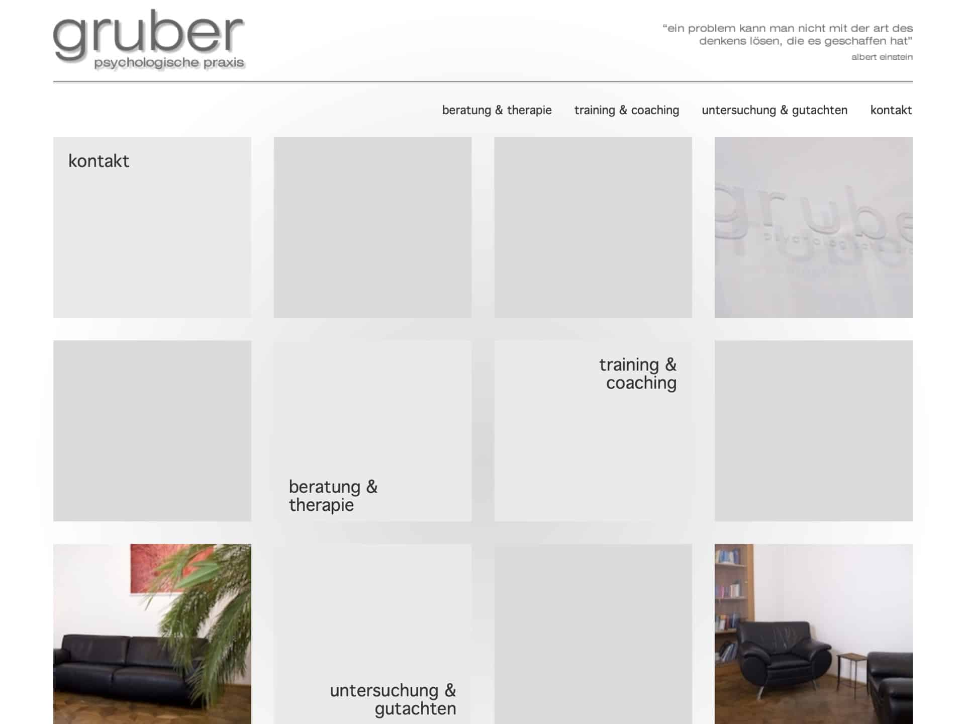 Psychotherapie und psychologische Beratung Dr. Gruber Website