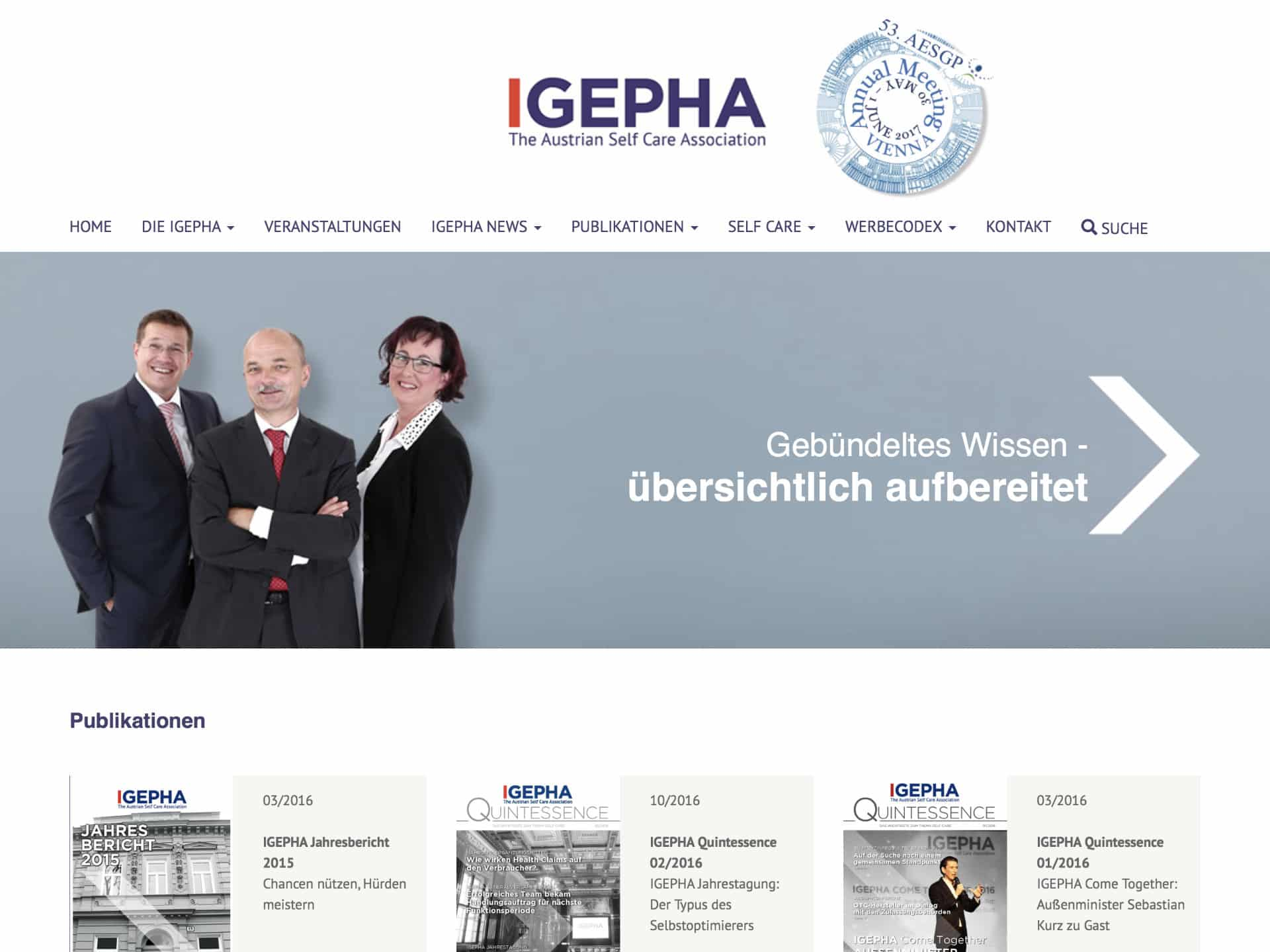 Igepha Website