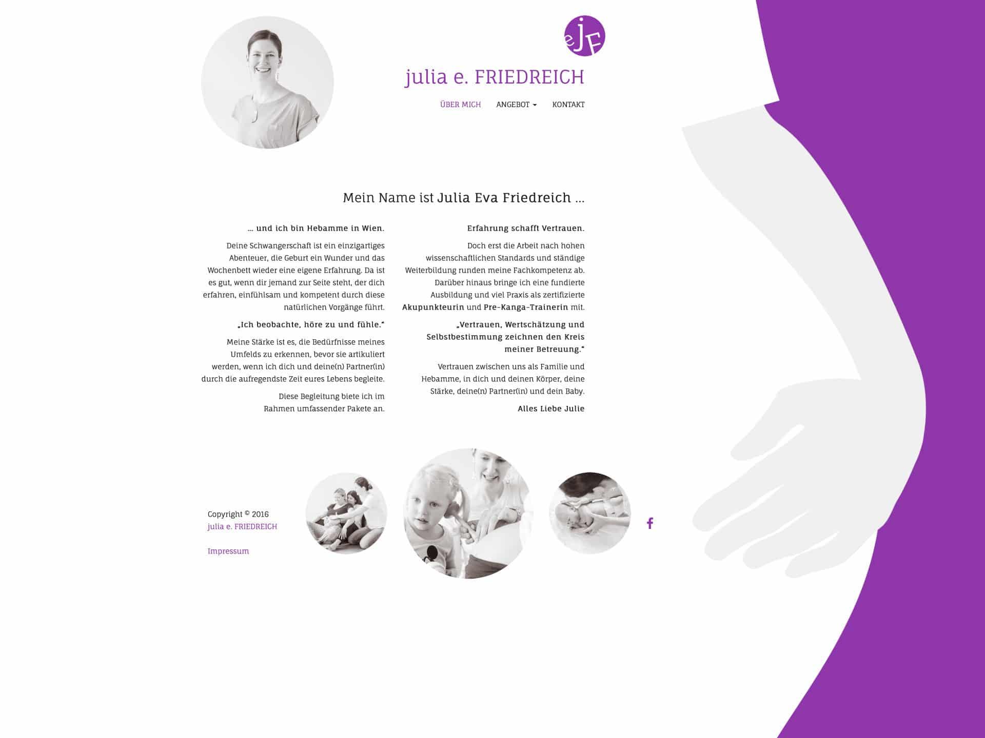 Julia Eva Friedreich Webseite