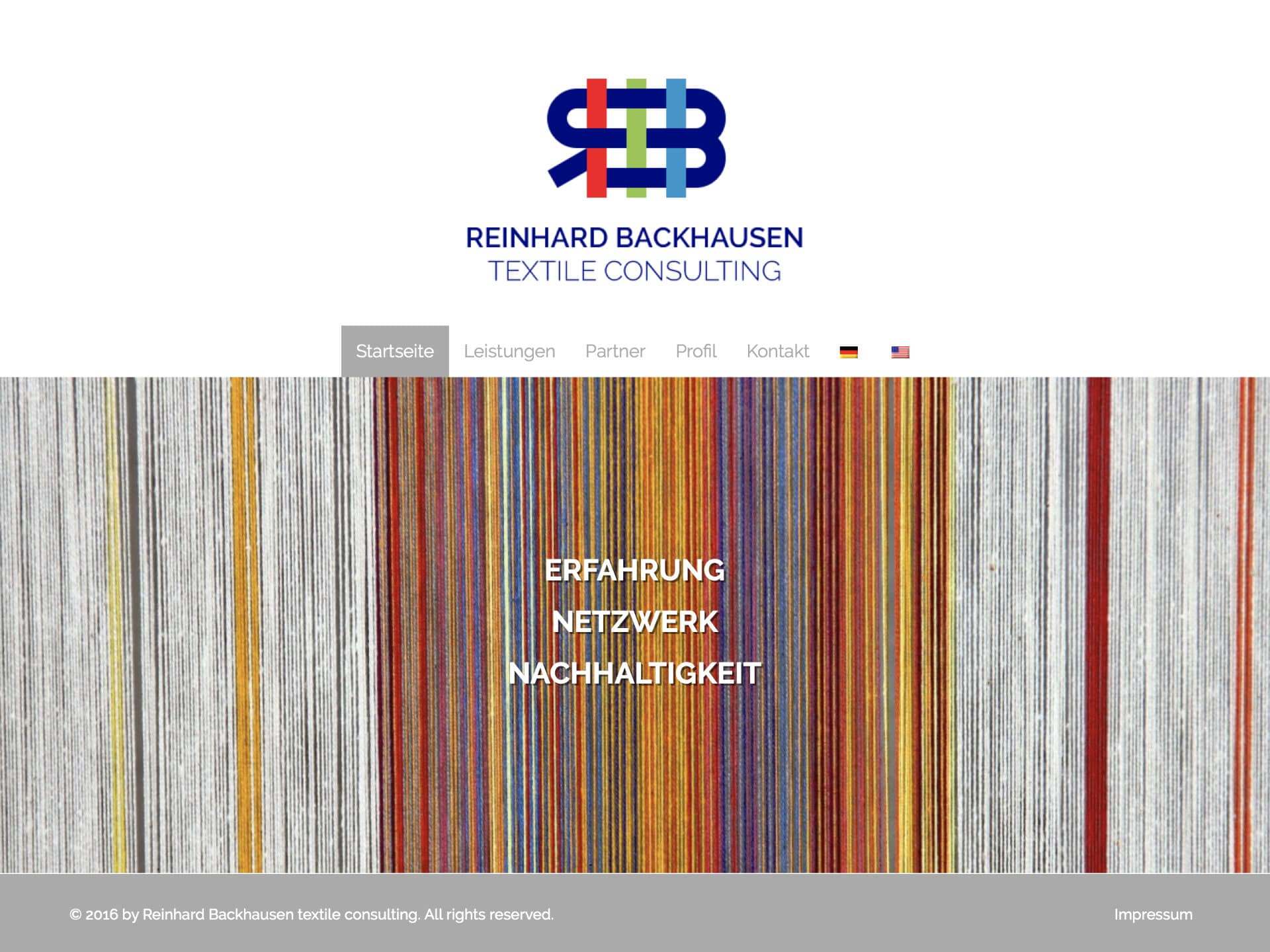 Reinhard Backhausen textile consulting Website