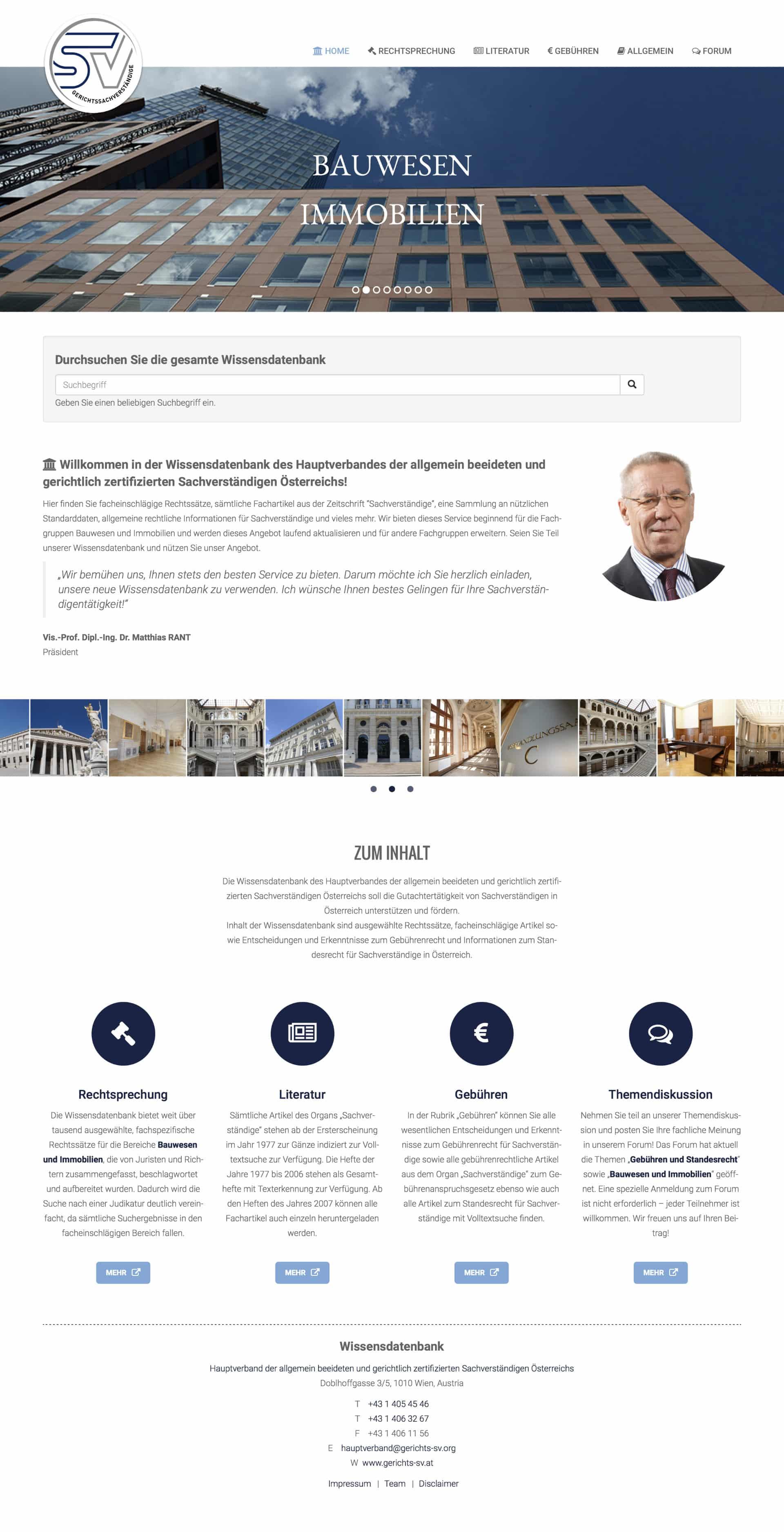 Wissensdatenbank Gerichts-SV Webseite