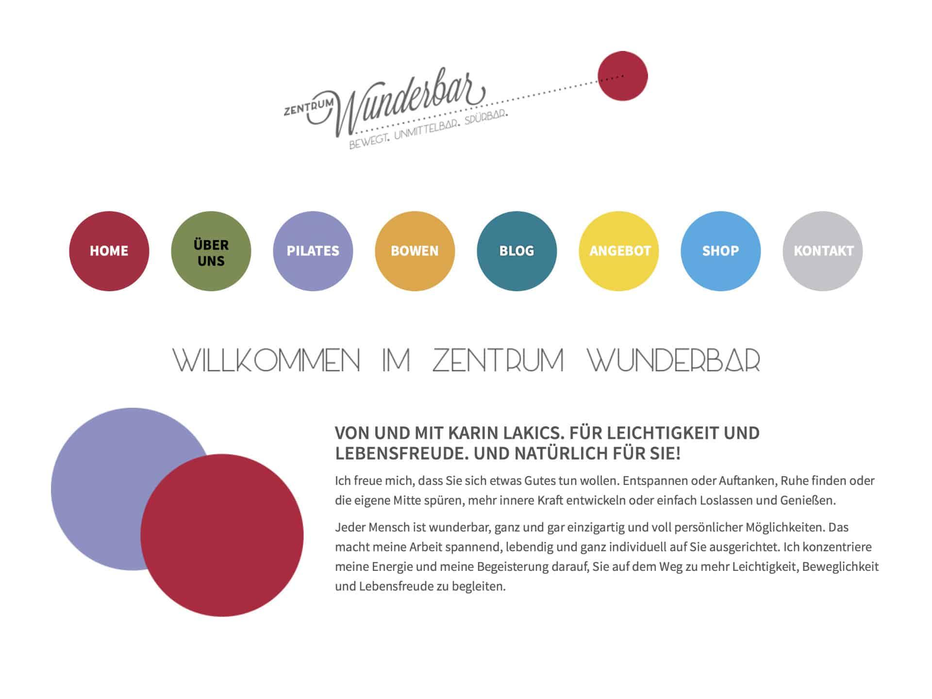 Zentrum Wunderbar Karin Lakics Website