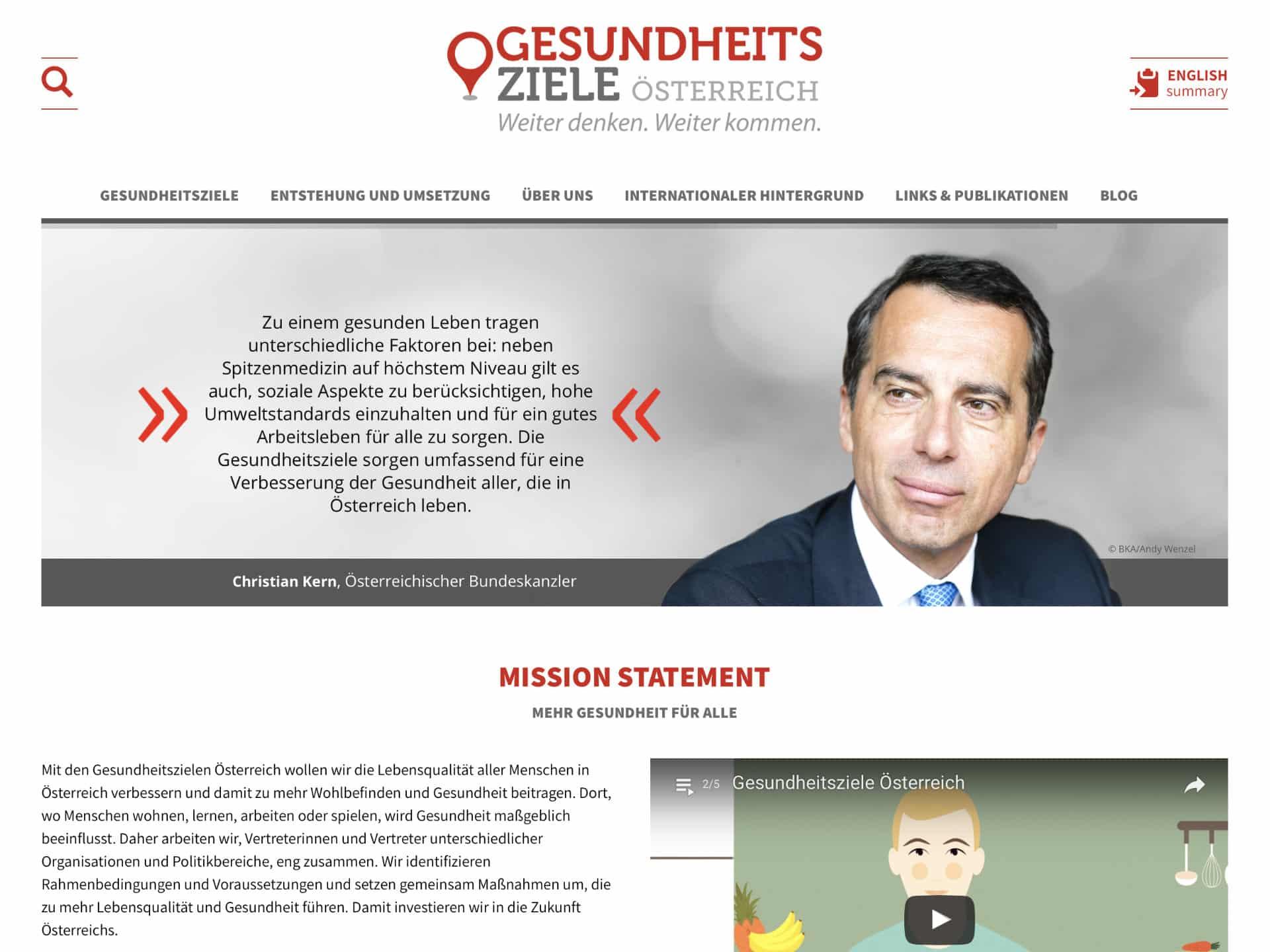 Gesundheitsziele Österreich