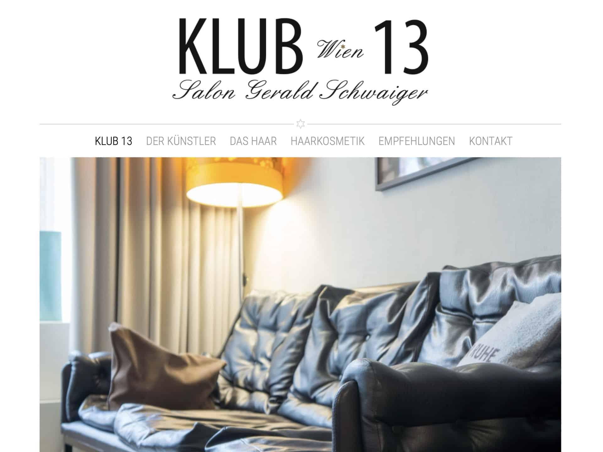 Klub 13 Wien - Salon Gerald Schwaiger