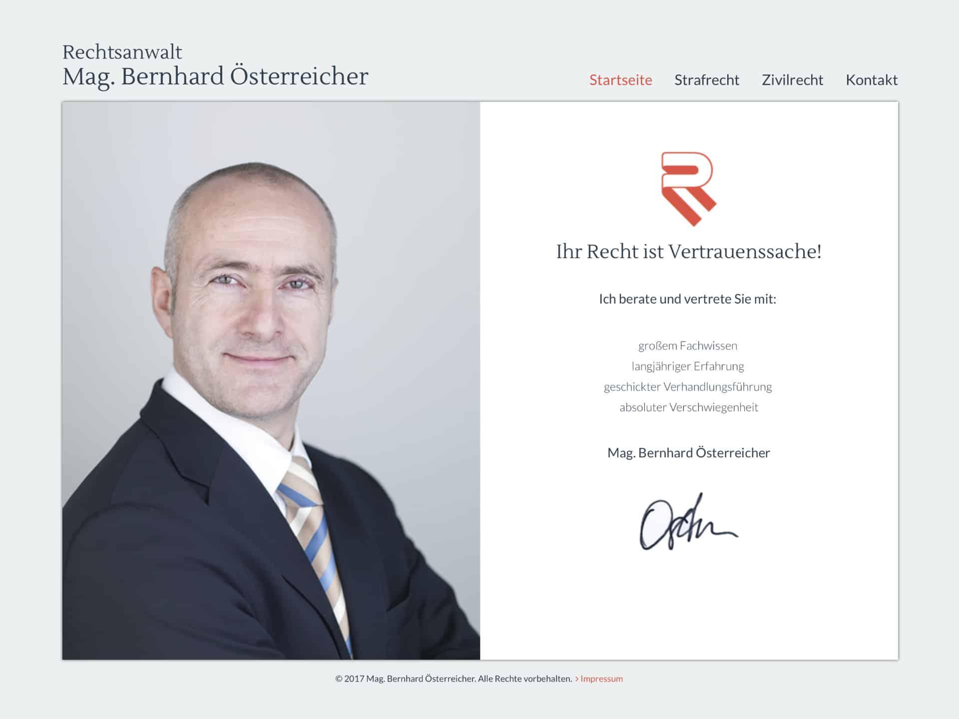 Rechtsanwalt Bernd Oesterreicher